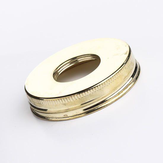 Metallic Gold Mason Jar Lids