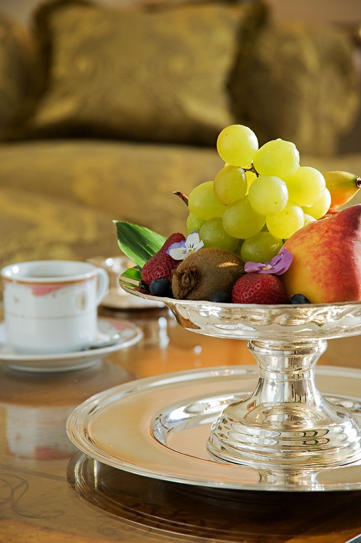 Fruit on footed dish