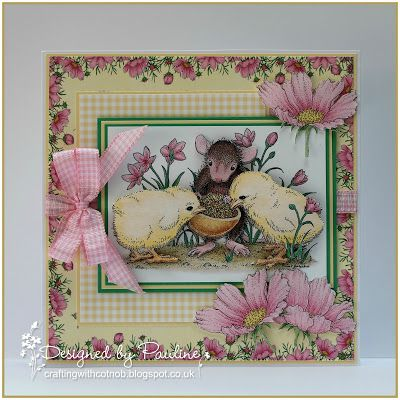 Crafting with Cotnob, Decoupage, House-Mouse, Joanna Sheen, Pink Petticoat, Spring, The Lovely Studio