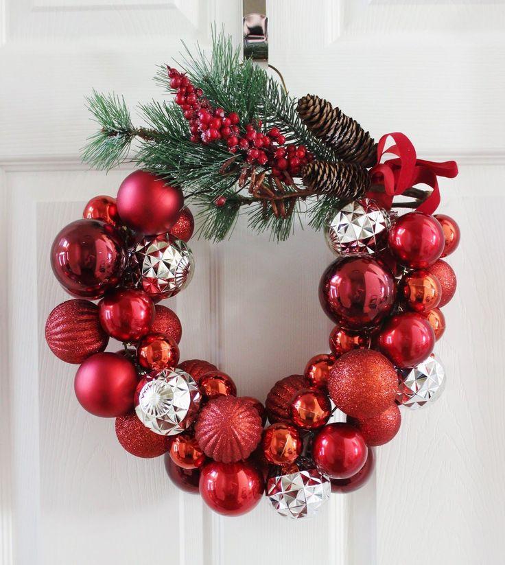 DIY Ornament Wreath for Christmas