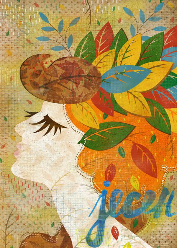 Seasons of the year by Marija Marković, via Behance
