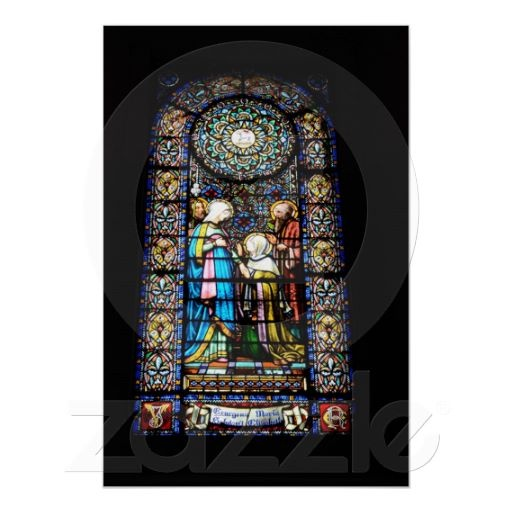 Stained Glass in Montserrat, Spain Poster