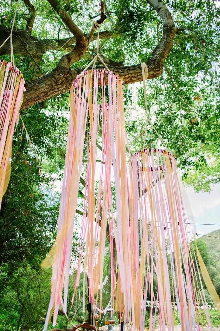 Ribbon Hoops for a fun diy wedding reception