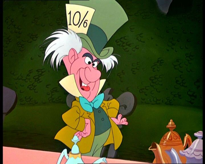 "The Hatter and the March Hare are initially referred to as ""both mad"" by the Cheshire Cat, and both first appear in the seventh chapter of Alice's Adventures in Wonderland, which is titled ""A Mad Tea-Party""."