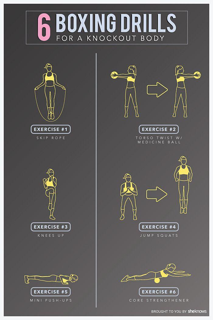 Boxing training exercises
