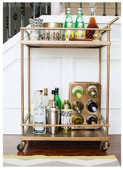gold bar cart bar cart styling bar carts wine bottle 31166
