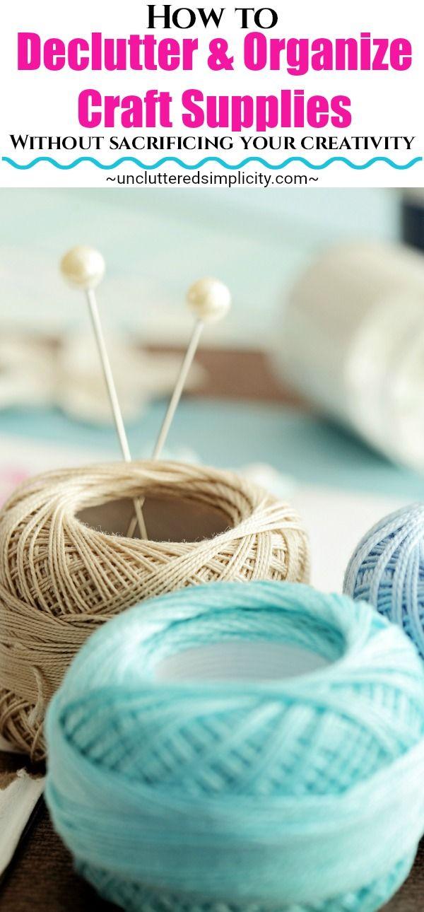 declutter craft supplies | organize craft supplies | craft organization | reduce craft clutter via @unclutteredsimplicity