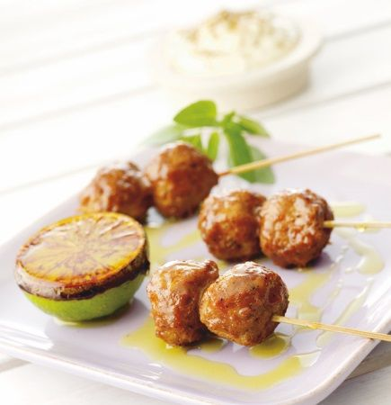 Quorn Meat Free Swedish Style Balls grilled in Lime and Roasted Garlic