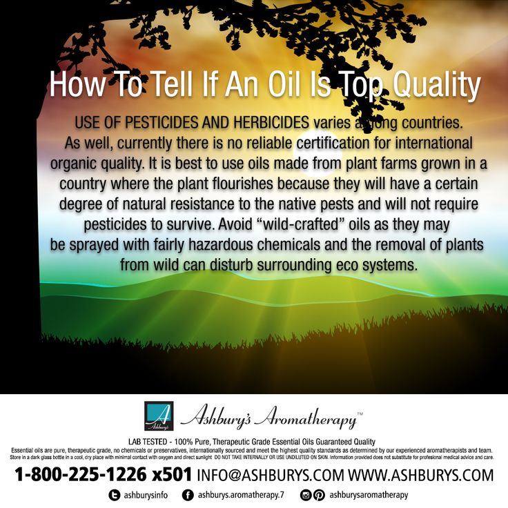 How To Tell If An Oil Is Top Quality: USE OF PESTICIDES AND HERBICIDES varies among countries. As well, currently there is no reliable certification for international organic quality.  #ashburysaromatherapy