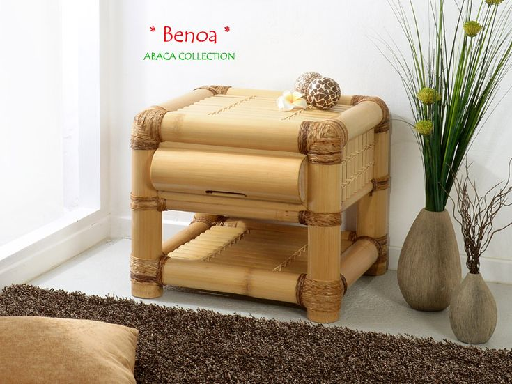 BENOA Bambus Nachtkonsole - Nachttisch | ABACA COLLECTION