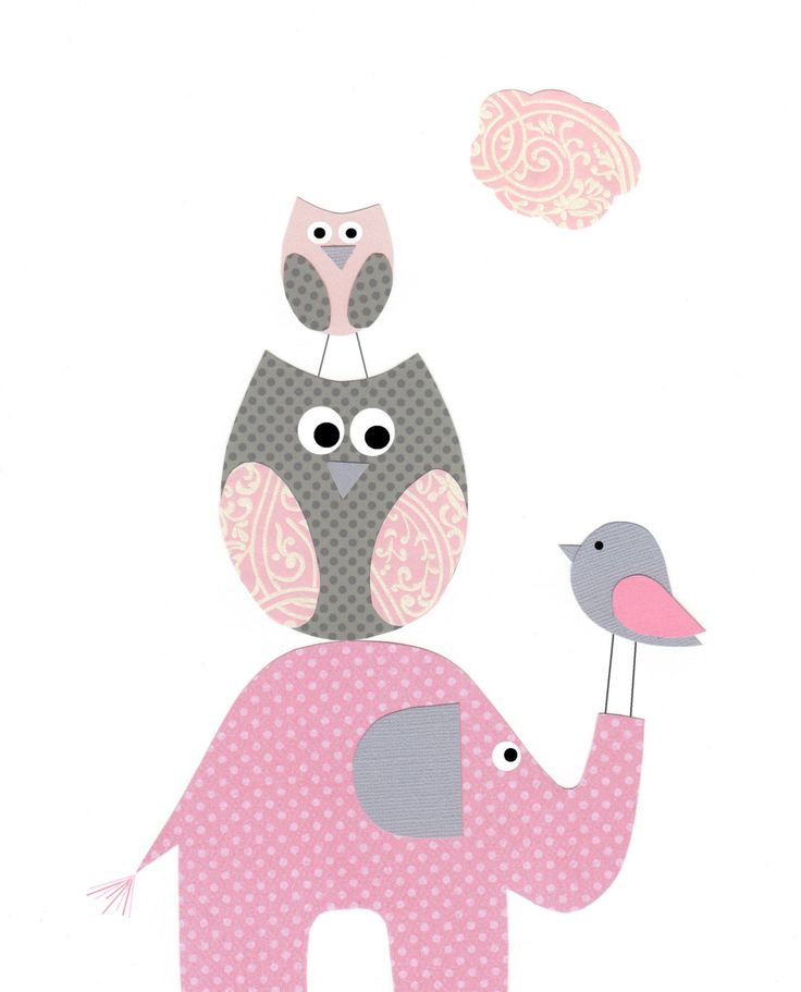 Baby Nursery Decor Baby Girl Kids Wall Art Bird by vtdesigns