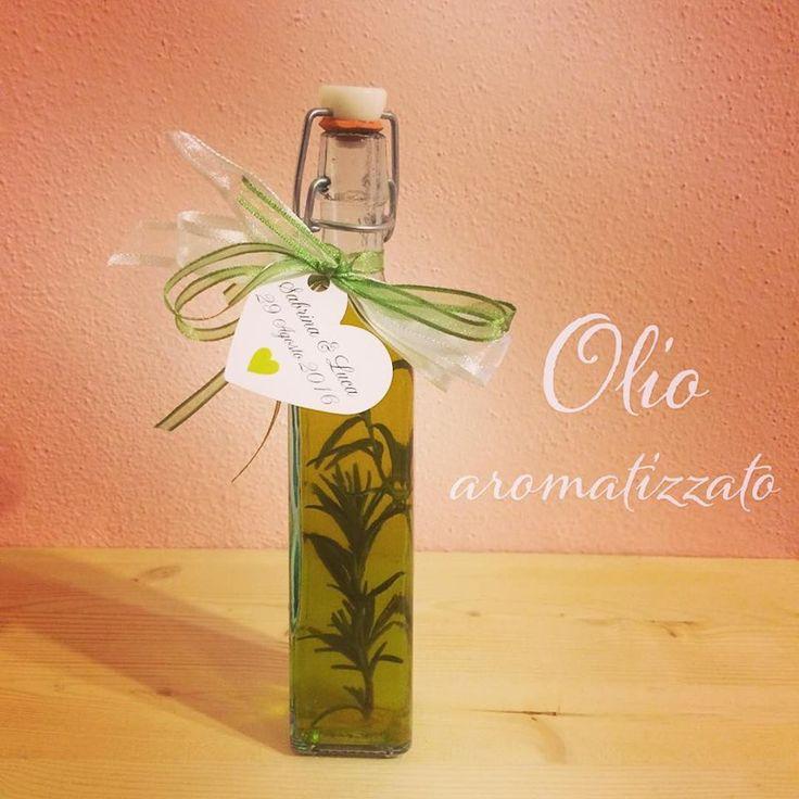 Bomboniera bottiglia d'olio aromatizzato