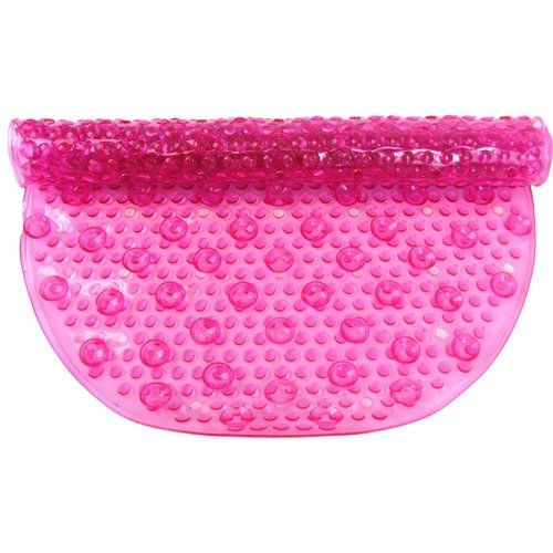 Aqua Gel Bubbled Bath Mat in Pink $13.93