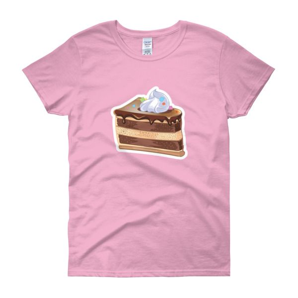 Chocolate Vanilla Cake Womens T-Shirt – Sweet Desserts Collection – Gildan 5000L  Product: Gildan 5000L Ladies Heavy Cotton Short Sleeve T-Shirt  A heavy cotton, classic fit ladies scoop neck t-shirt. • 100% cotton jersey • Pre-shrunk • Near-capped sleeves • Mid-scoop neck • ½ rib double needle collar • Missy contoured silhouette with side seam