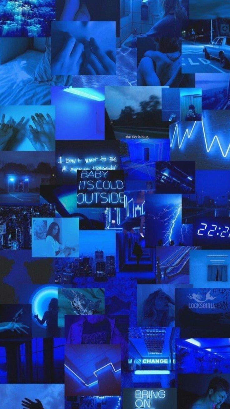 Aesthetic Dark Blue Photo > Flip Wallpapers > Download