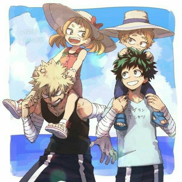 Like A Happy Family Heroes Rising In 2020 My Hero Hero Wallpaper Hero Academia Characters