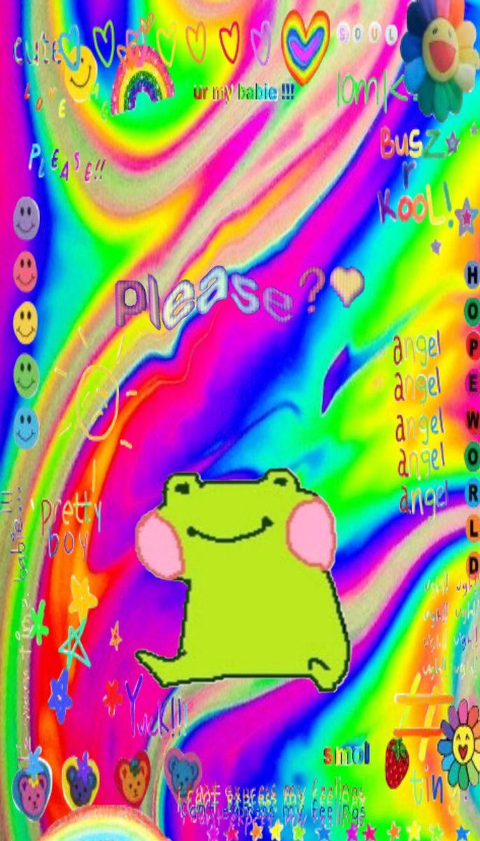 frog qwq— in 2020 Glitter phone wallpaper, Pretty