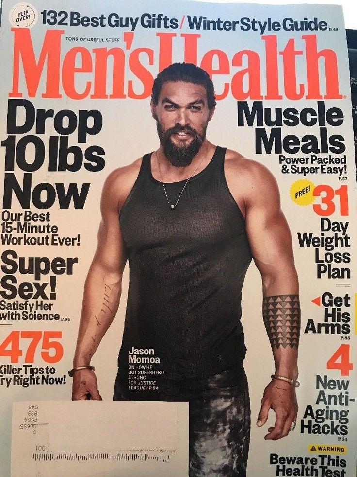 Men's Health Magazine December 2017 Jason Momoa Super Sex Best Guy Gifts Tech  | eBay