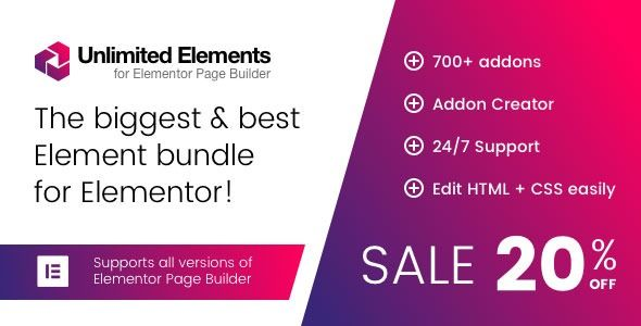 Unlimited Elements for Elementor Page Builder Unlimited Elements for