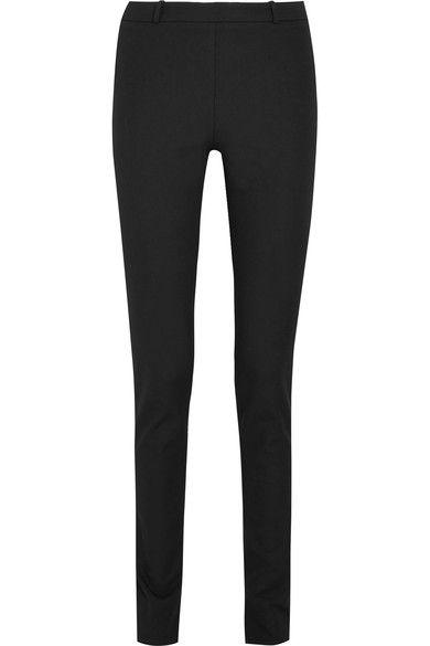 Roland Mouret - Mortimer Stretch-cotton Crepe Skinny Pants - Black - UK