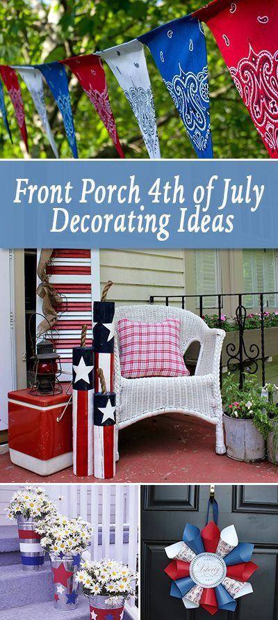front porch  u2013 4th of july decorating ideas
