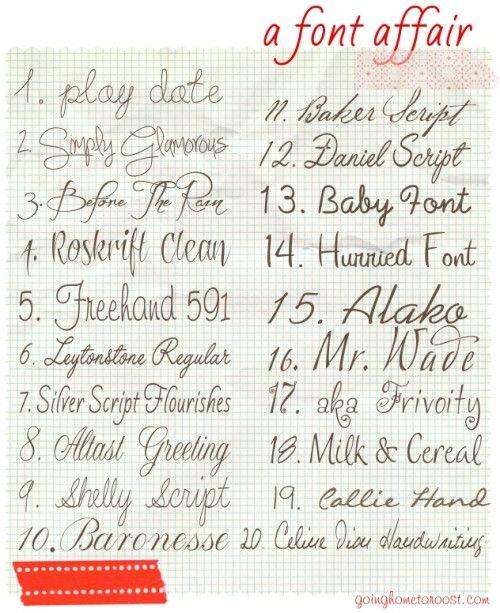 Script fonts - Milk & Cereal!