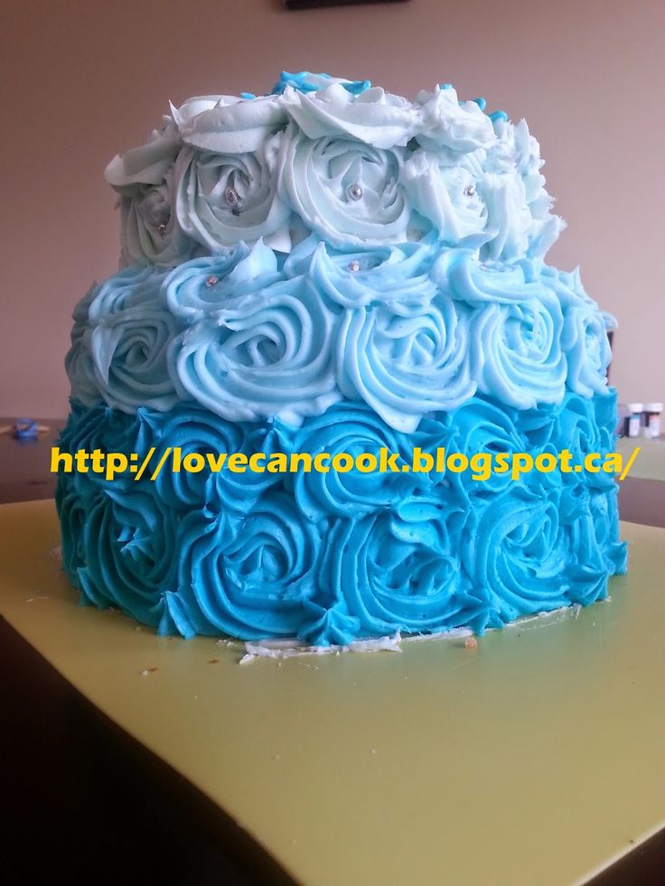 Cooking With Love: Tiffany Color Inspired Gluten Free Ombre Birthday ...