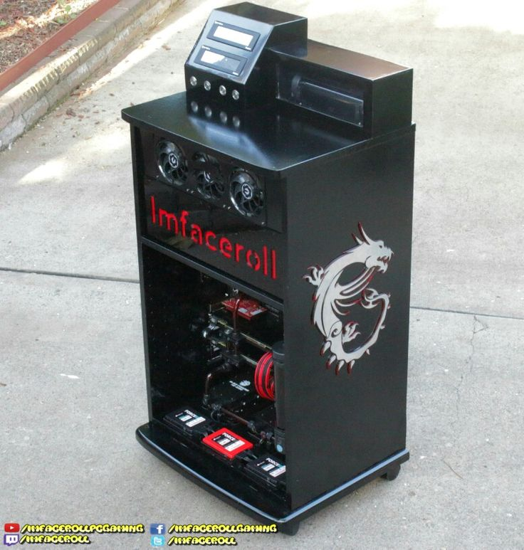 MSI gaming cabinet, custom liquid cooled PC  www.facebook.com/imfacerollgaming www.youtube.com/imfacerollpcgaming