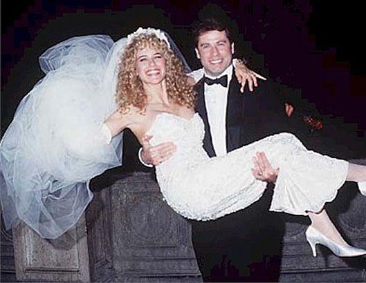 1991 Kelly Preston and John #Travolta - #wedding day