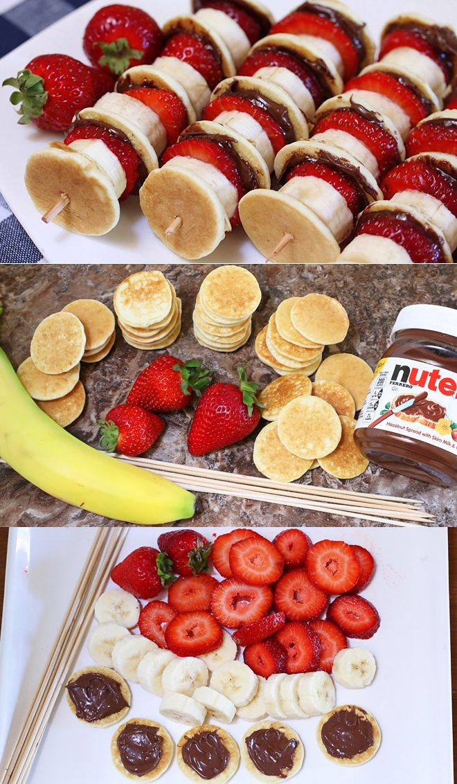Kabobs Pancakes And Nutella On Pinterest