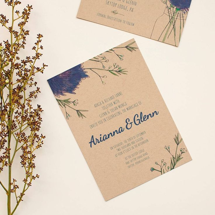 152 best Illustrated / Handmade Wedding Invitations images on ...