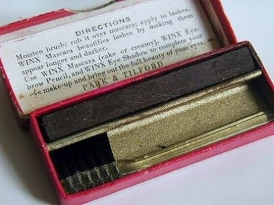 9 Photos Of What Mascara Used To Look Like  -  Park & Tilford from the 1910s.