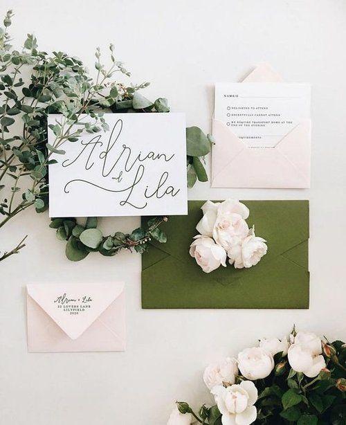 Blush & Olive Wedding Inspiration | Estera Events