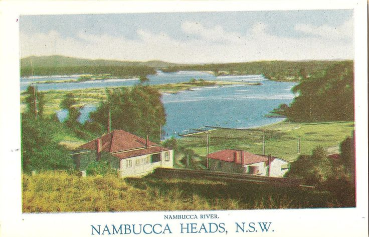 Nambucca Heads in days gone by looking out over the Nambucca River.