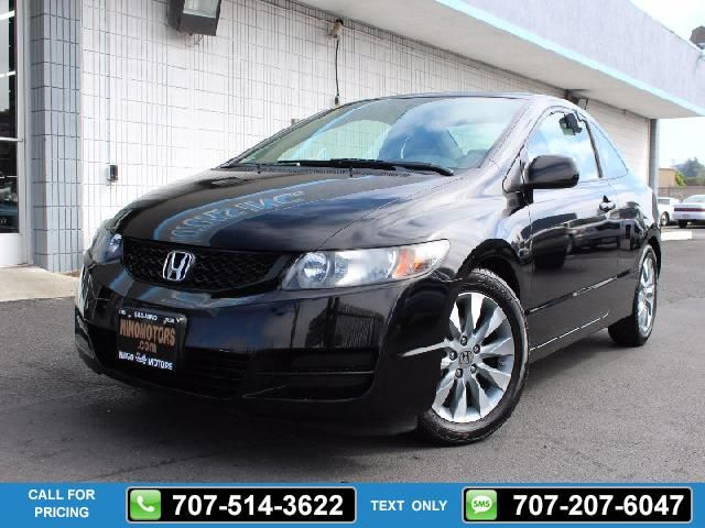 2010 Honda Civic EX Coupe 2D 83k miles Black $11,995 83191 miles 707-514-3622 Transmission: Automatic  #Honda #Civic #used #cars #NinoMotors #Vallejo #CA #tapcars