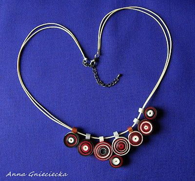 quilling, necklace
