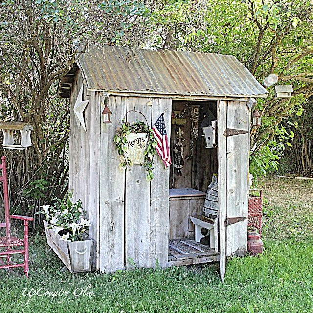 Outhouse tool shed free plans woodworking projects plans - Plans for garden sheds decor ...