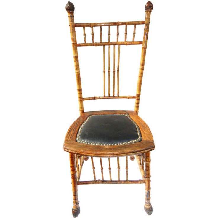 19th Century English Bamboo And Leather Chair