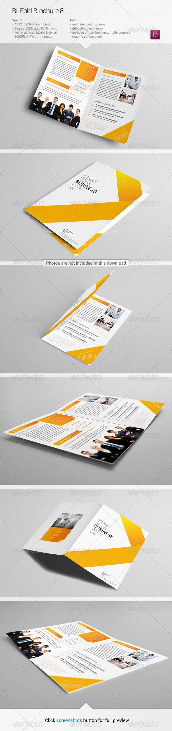 Bi-Fold Brochure 8  —  InDesign Template • Download ➝…