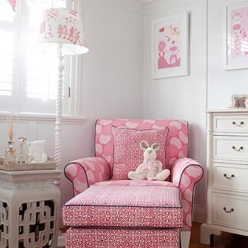 Pink Nursery Glider, Transitional, girl's room, Oliveaux