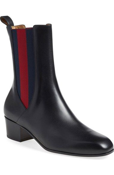 GUCCI 'Karen' Slip-On Bootie (Women). #gucci #shoes #boots