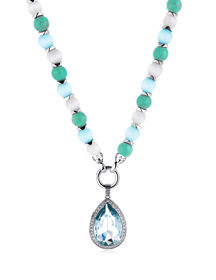 Aquatica Necklace and Aqua Drop Pendant