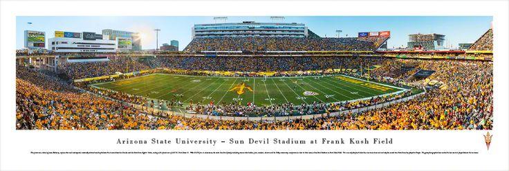 Arizona State Sun Devils Panoramic Picture - Sun Devil Stadium Picture $29.95