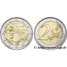 Monnaie Inestimable: Pièce 2 Euros 2010 De Gaulle Très Rares 70 Ans Appel Du 18 Juin