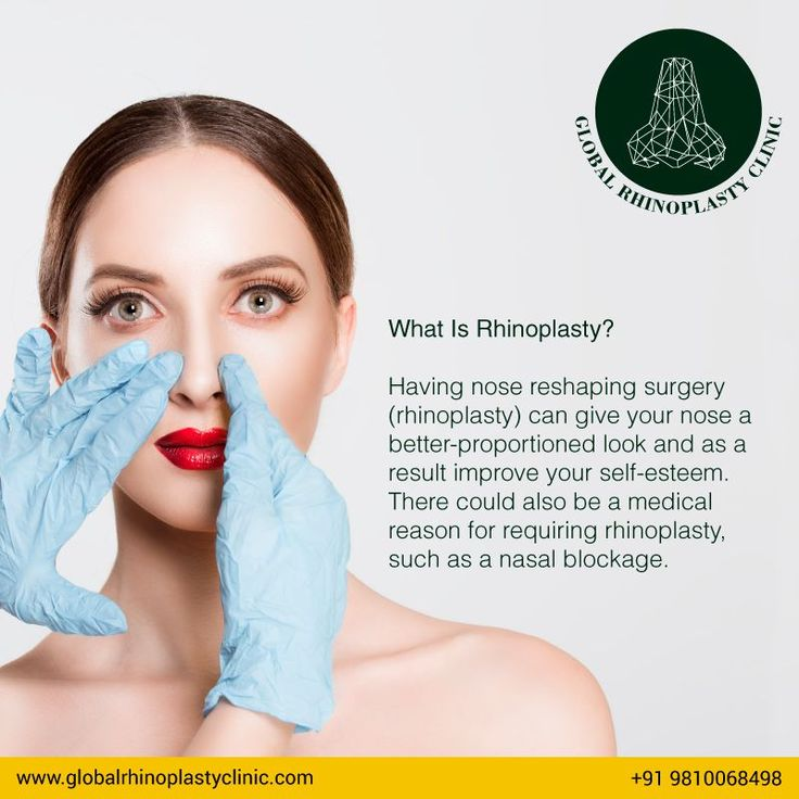 What Is Rhinoplasty? Having nose reshaping surgery (rhinoplasty) can give your nose a better-proportioned look and as a result improve your self-esteem. There could also be a medical reason for requiring rhinoplasty, such as a nasal blockage.