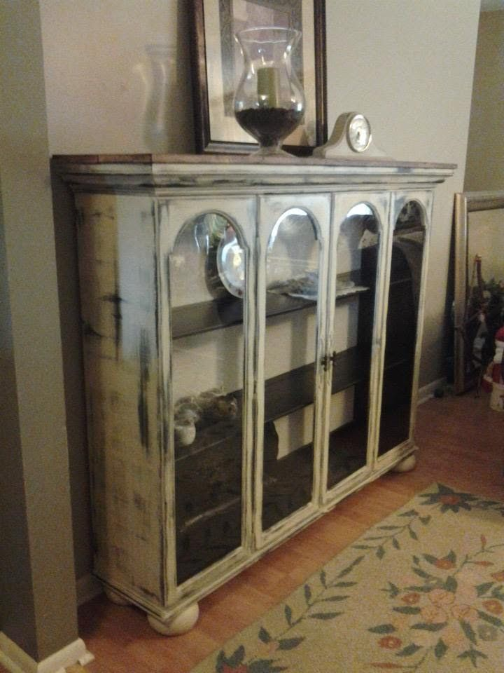Top To A China Cabinet That We Repurposed