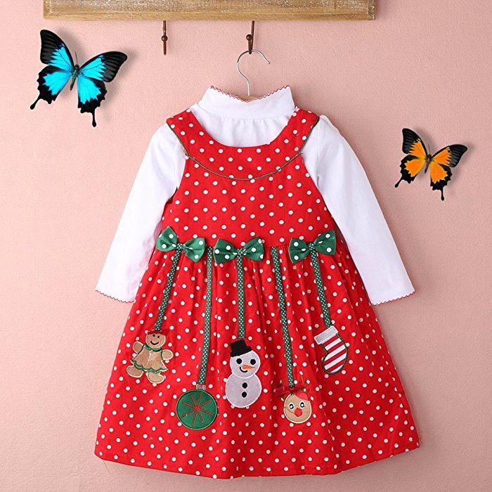 Baby Mädchen Weihnachtskostüm Weihnachtskleid (90cm)