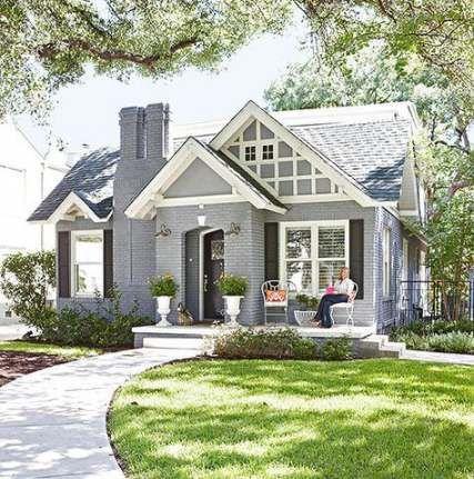 Fachada da casa super antes e depois das idéias de acabamentos brancos   – House ideas
