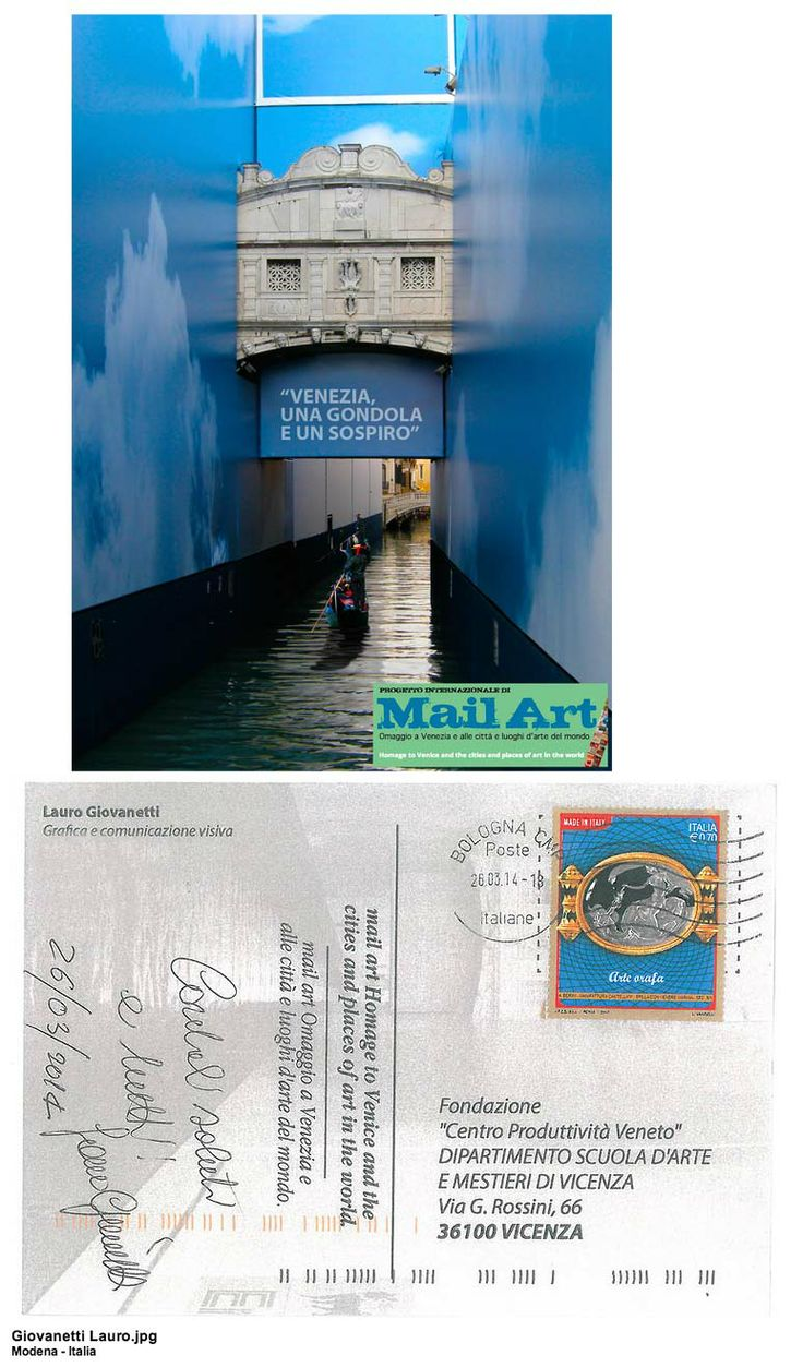 mail art - Homage to Venice and the cities and places of art in the world - Lauro Giovanetti