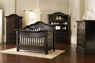 Millbury Baby Crib Collection in Espresso Finish